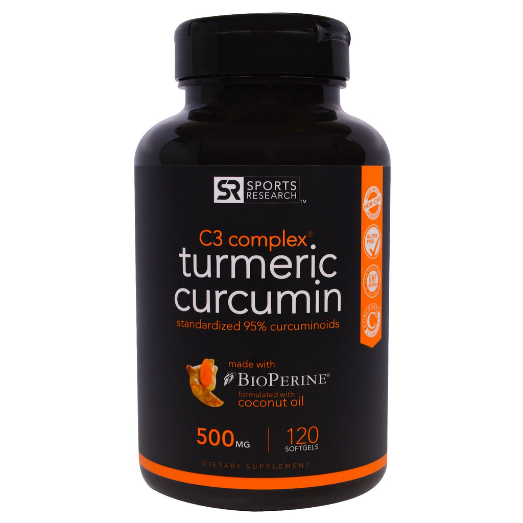 Sports Research, Turmeric Curcumin, C3 Complex, 500 mg, 120 Softgels