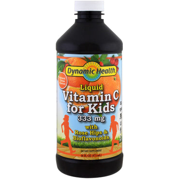 Dynamic Health Laboratories, Liquid Vitamin C for Kids, Natural Citrus, 16 fl oz (473 ml)
