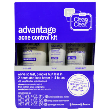 Clean & Clear, Advantage Acne Control Kit, 3 Piece Kit