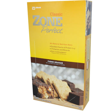 ZonePerfect Classic All-Natural Nutrition Bars Fudge Graham 12 Bars 1.76 oz (50 g) Each