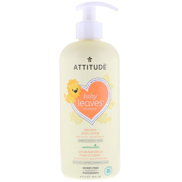 ATTITUDE Baby Leaves Science Natural Body Lotion Pear Nectar 16 fl oz (473 ml)