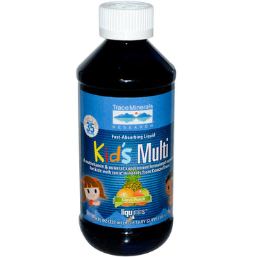 Trace Minerals Research, Kid's Multi, Citrus Punch, 8 fl oz (237 ml)