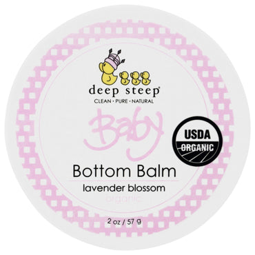 Deep Steep, Organic, Baby Bottom Balm, Lavender Blossom, 2 oz (57 g)