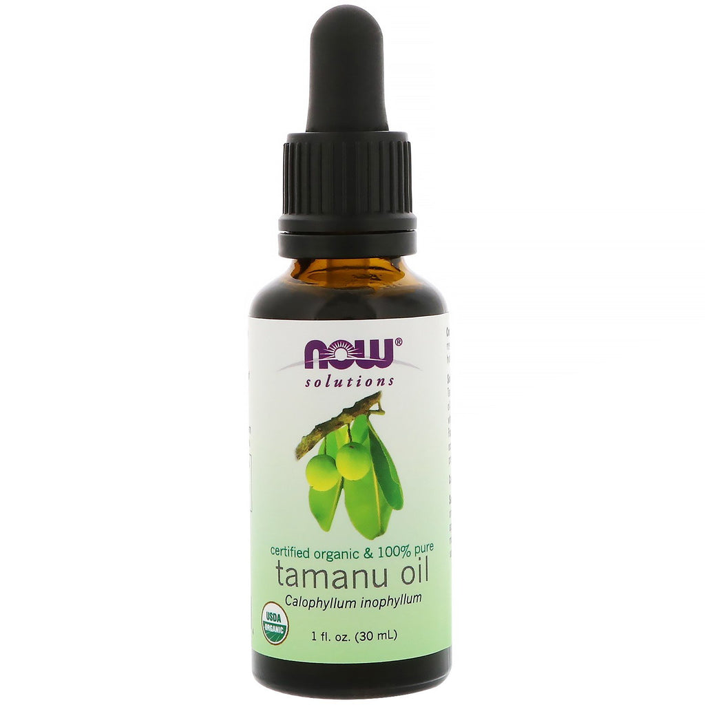 Now Foods, Certified Organic & 100% Pure, Tamanu Oil, 1 fl oz (30 ml)