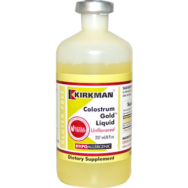 Kirkman Labs, Colostrum Gold Liquid, Hypoallergenic, Unflavored, 8 fl oz (237 ml)