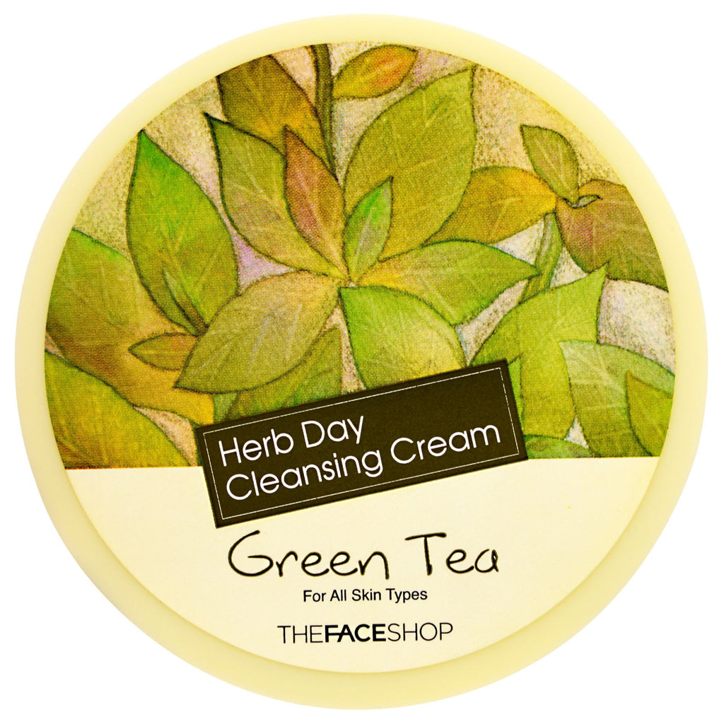 The Face Shop Herb Day Cleansing Cream Green Tea 5 oz (150 ml)