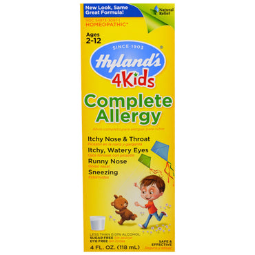 Hyland's, Complete Allergy 4 Kids, 4 fl oz (118 ml)