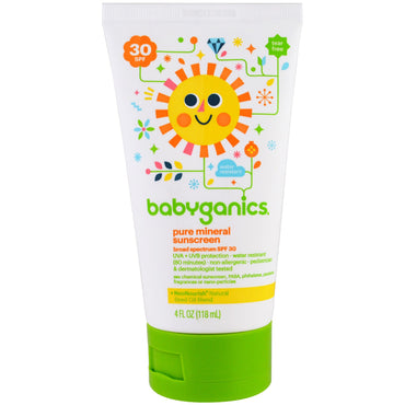 BabyGanics Pure Mineral Sunscreen Lotion SPF 30 4 oz (118 ml)