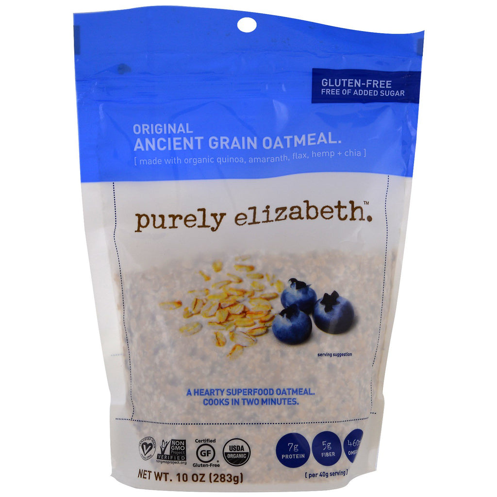 Purely Elizabeth, Organic Ancient Grain Oatmeal, Original, 10 oz (283 g)