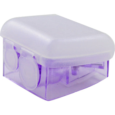 Honeybee Gardens, Side By Side Dual Sharpener With Flip Top, Purple