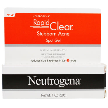 Neutrogena, Rapid Clear, Stubborn Acne Spot Gel, Maximum Strength, 1 oz (28 g)