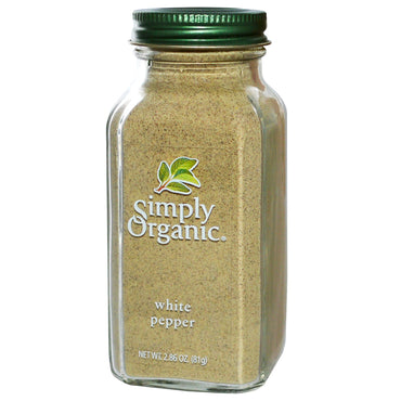 Simply Organic, White Pepper, 2.86 oz (81 g)