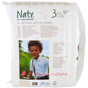 Naty, Diapers, Size 3, 9-20 lbs (4-9 kg), 31 Diapers