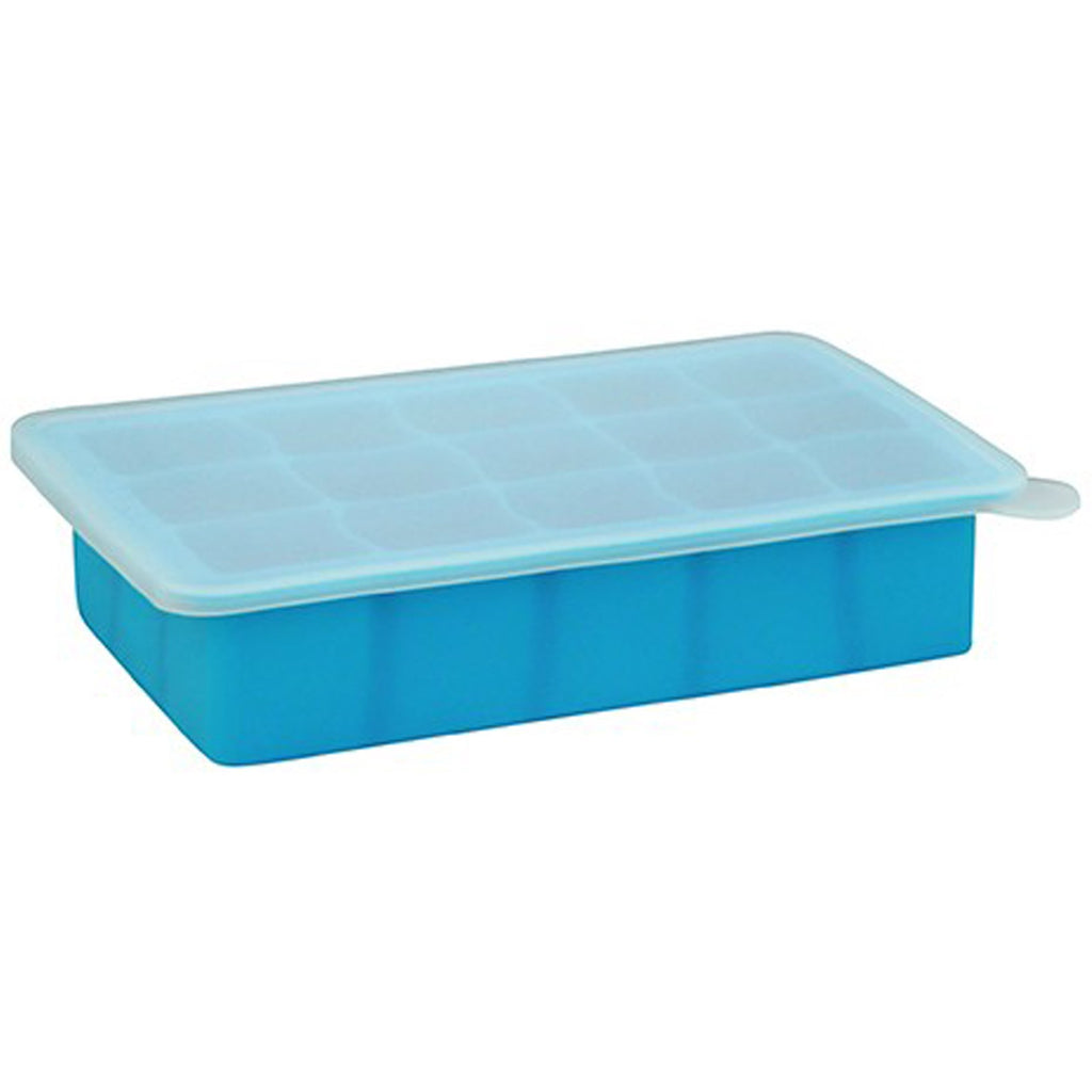 iPlay Inc., Green Sprouts, Fresh Baby Food Freezer Tray, Blue, 1 Tray, 15 Portions - 1 oz (28 ml) Each