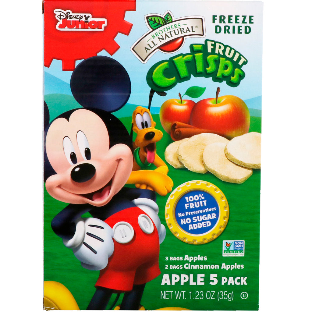 Brothers-All-Natural Fruit Crisps Disney Junior Apples and Cinnamon Apples 5 Pack 1.23 oz (35 g)