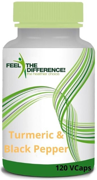 FEEL THE DIFFERENCE Turmeric & Black Pepper 60 Veg Capsules