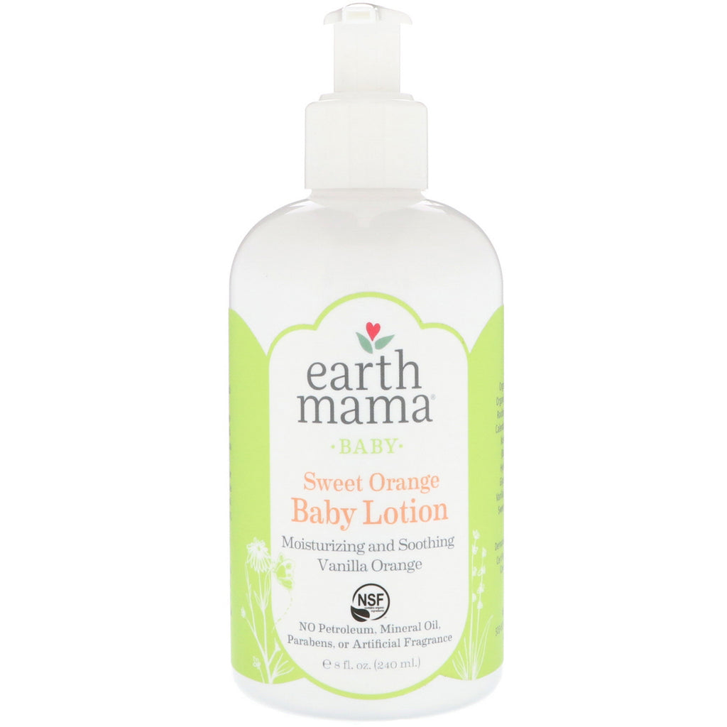 Earth Mama Baby Sweet Orange Baby Lotion Vanilla Orange 8 fl oz (240 ml)