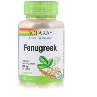 Solaray, Fenugreek, 620 mg, 180 VegCaps