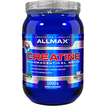 ALLMAX Nutrition, Creatine Powder, 100% Pure Micronized Creatine Monohydrate, Pharmaceutical Grade Creatine, 35.27 oz (1000 g)