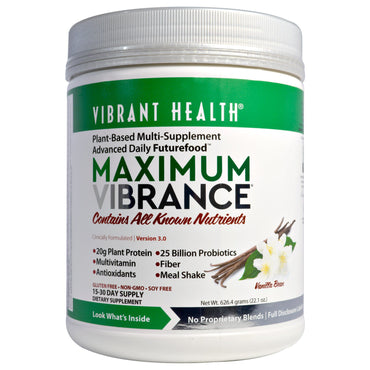 Vibrant Health, Maximum Vibrance, Version 3.0, Vanilla Bean, 22.1 oz (626.4 g)