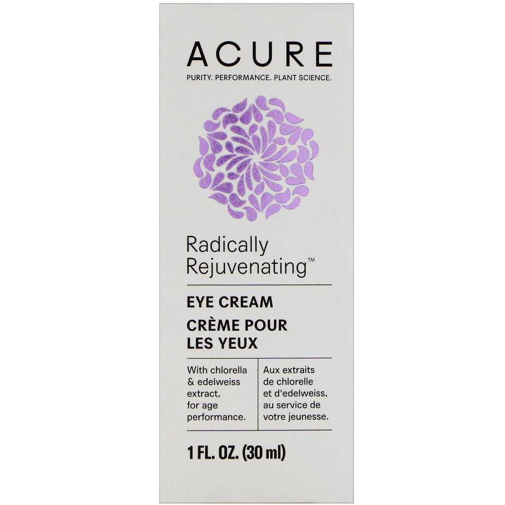 Acure, Radically Rejuvenating, Eye Cream, 1 fl oz (30 ml)