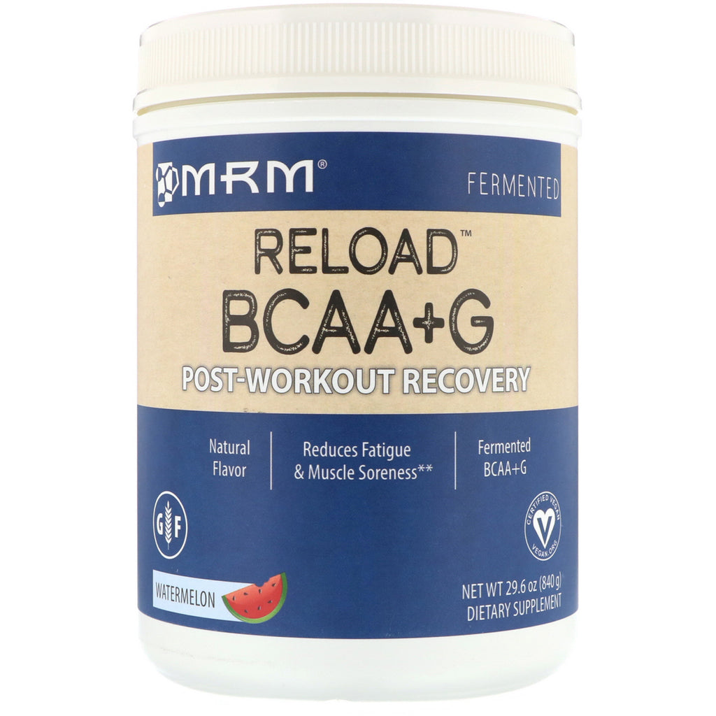 MRM, BCAA+ G Reload, Post-Workout Recovery, Watermelon, 29.6 oz (840 g)