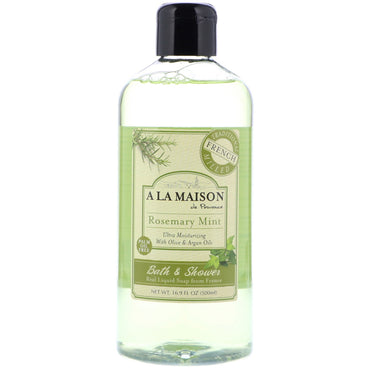 A La Maison de Provence, Bath & Shower Liquid Soap, Rosemary Mint, 16.9 fl oz (500 ml)