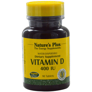 Nature's Plus, Vitamin D, 400 IU, 90 Tablets