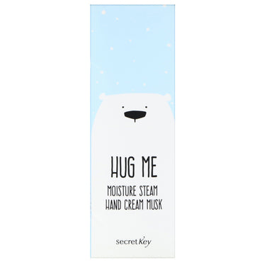 Secret Key, Hug Me, Moisture Steam Hand Cream, Musk, 5.07 oz (30 ml)