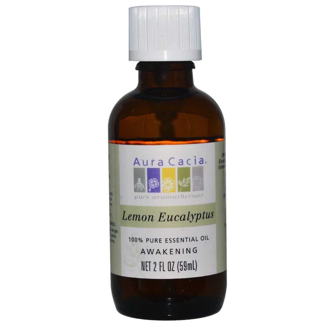 Aura Cacia, 100% Pure Essential Oil, Lemon Eucalyptus, 2 fl oz (59 ml)
