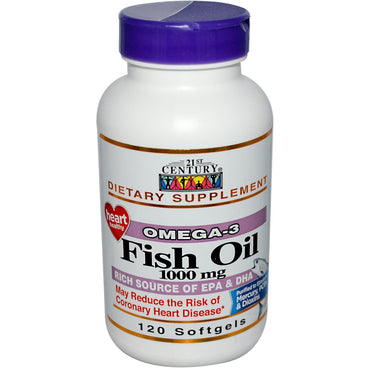 21st Century, Fish Oil, 1000 mg, 120 Softgels