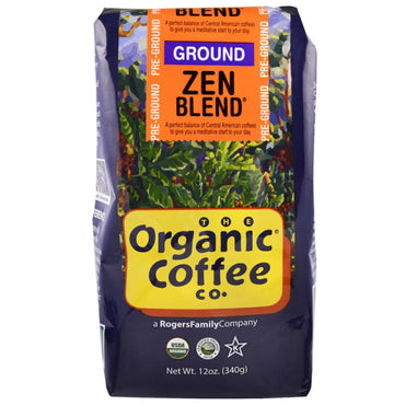 Organic Coffee Co., Organic Zen Blend, Pre Ground, 12 oz (340 g)