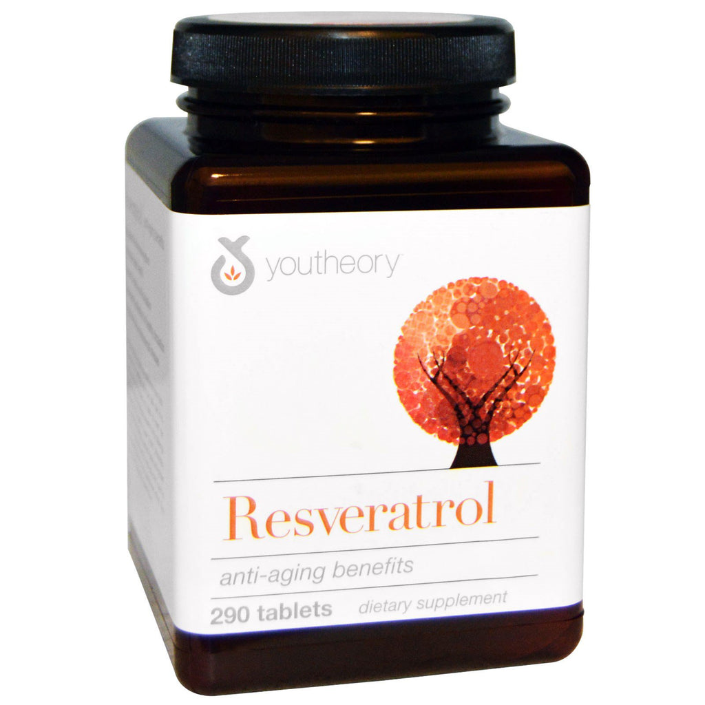 Youtheory, Resveratrol, 290 Tablets