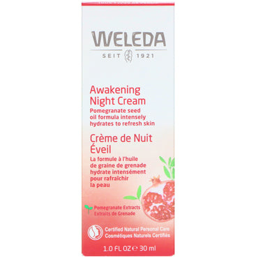 Weleda, Pomegranate Firming Night Cream, 1.0 fl oz (30 ml)