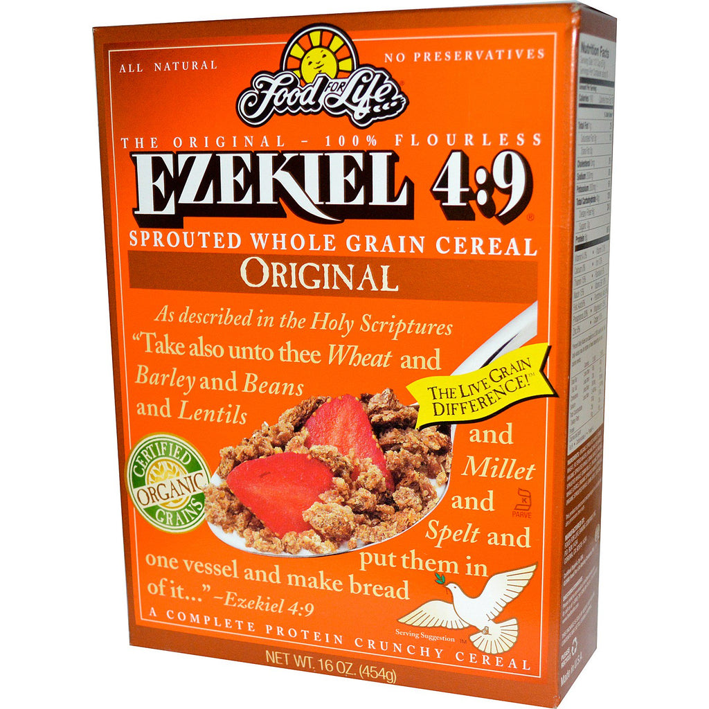 Food For Life, Ezekiel 4:9, Sprouted Whole Grain Cereal, Original, 16 oz (454 g)