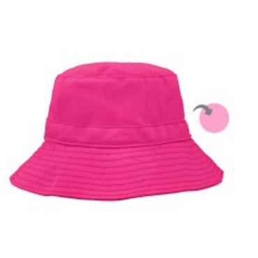iPlay Inc., Reversible Bucket Hat, 9-18 Months, Hot Pink/Light Pink