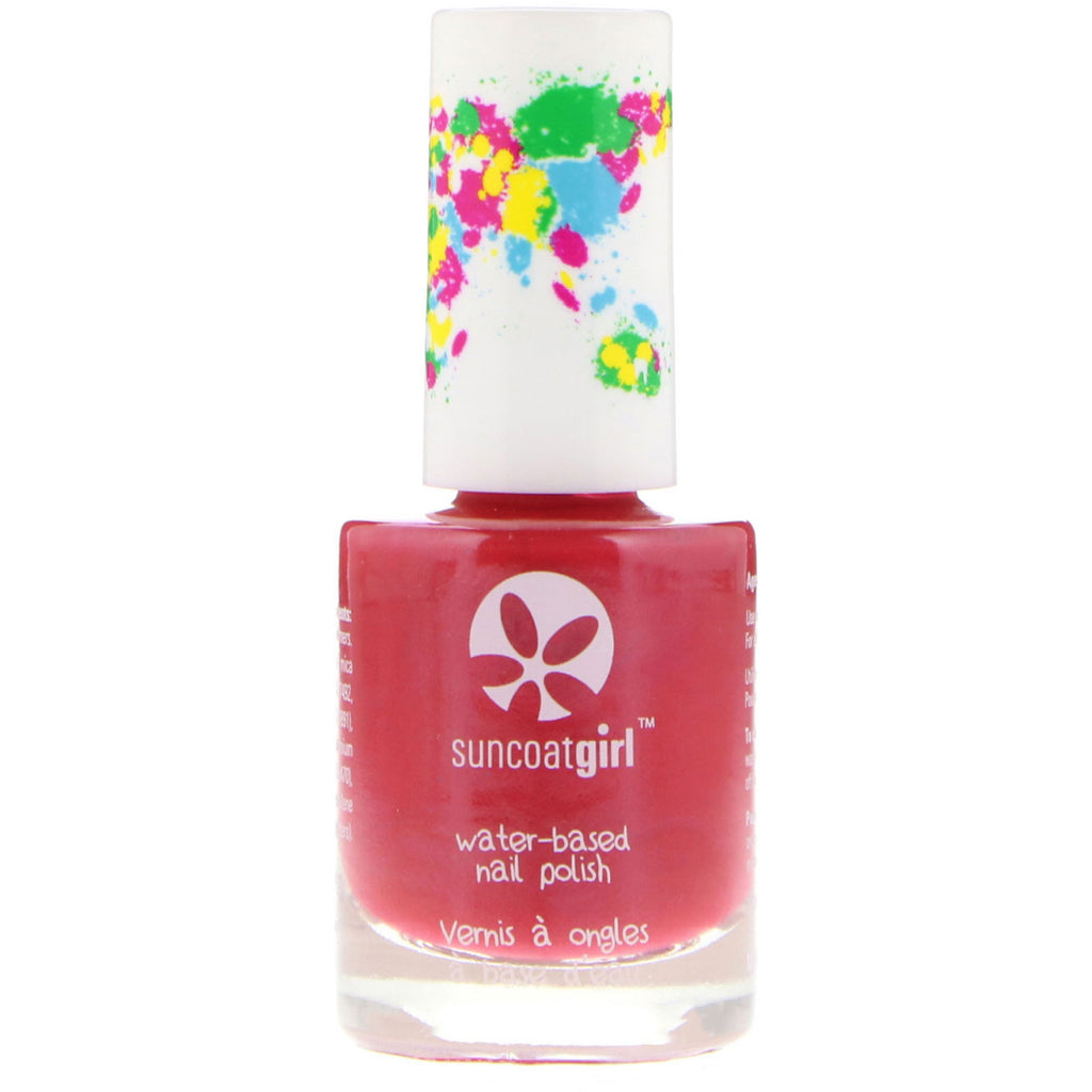 Suncoat Girl Water-Based Nail Polish Strawberry Delight 0.3 oz (9 ml)