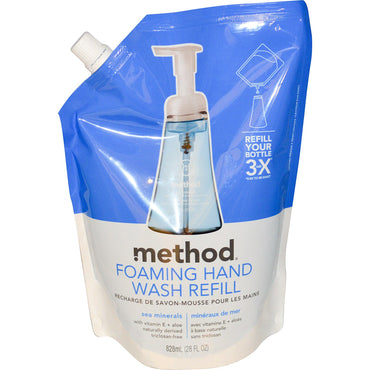 Method, Foaming Hand Wash Refill, Sea Minerals, 28 fl oz (828 ml)