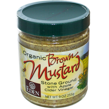 Eden Foods, Organic Brown Mustard, 9 oz (255 g)