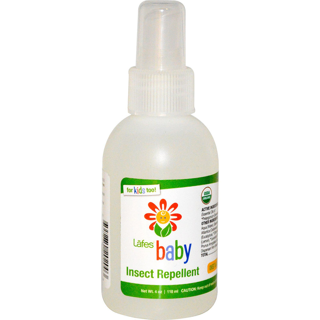 Lafe's Natural Body Care, Baby, Insect Repellent, 4 oz (118 ml)