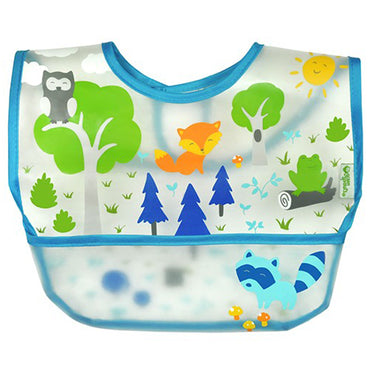 iPlay Inc., Green Sprouts, Wipe-off Bib, 9-18 Months, Blue, 1 Bib
