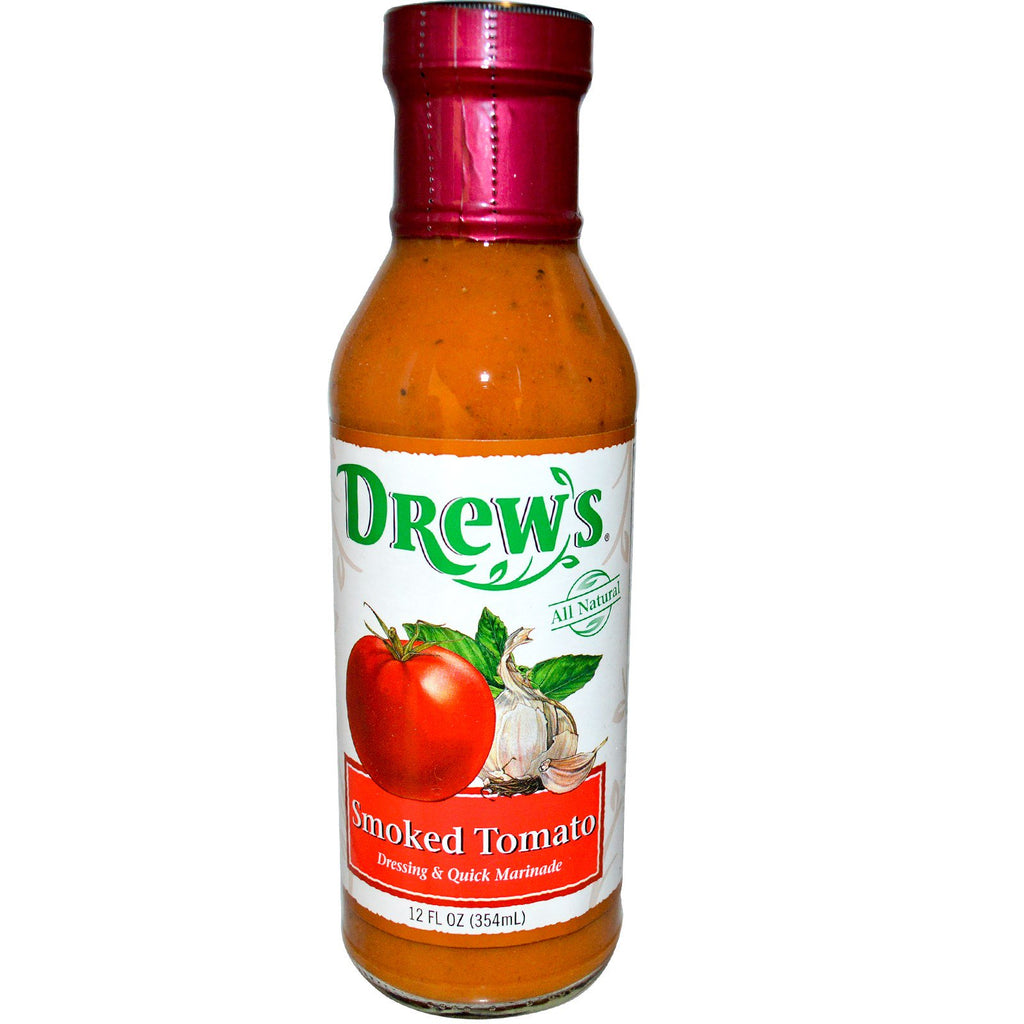 Drew's Organics, Dressing & Quick Marinade, Smoked Tomato, 12 fl oz (354 ml)