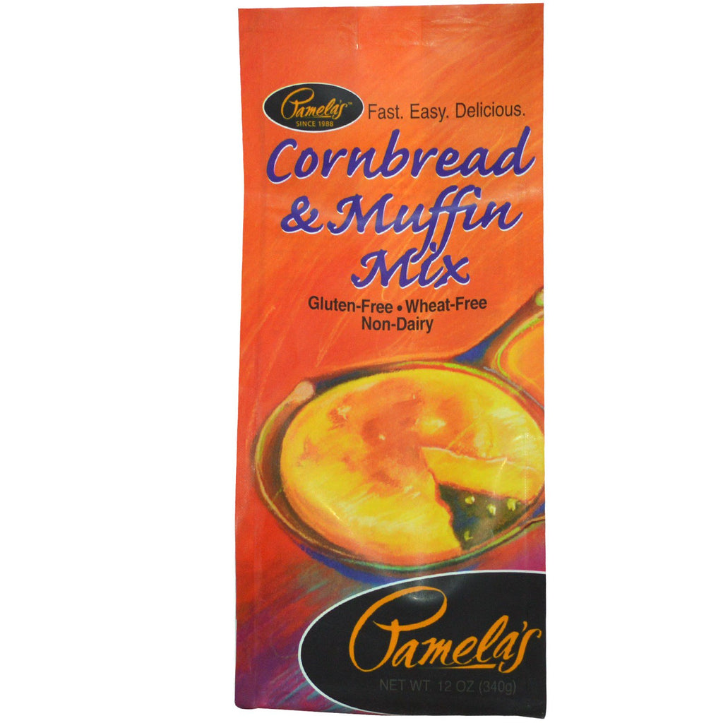 Pamela's Products, Cornbread & Muffin Mix, 12 oz (340 g)
