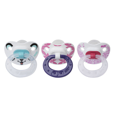 NUK, Orthodontic Pacifier, Girl, 6-18 Months, 3 Pack