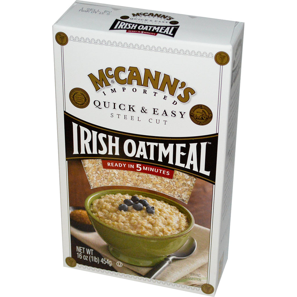 McCann's Irish Oatmeal, Quick & Easy, Steel Cut Oats, 16 oz (454 g)