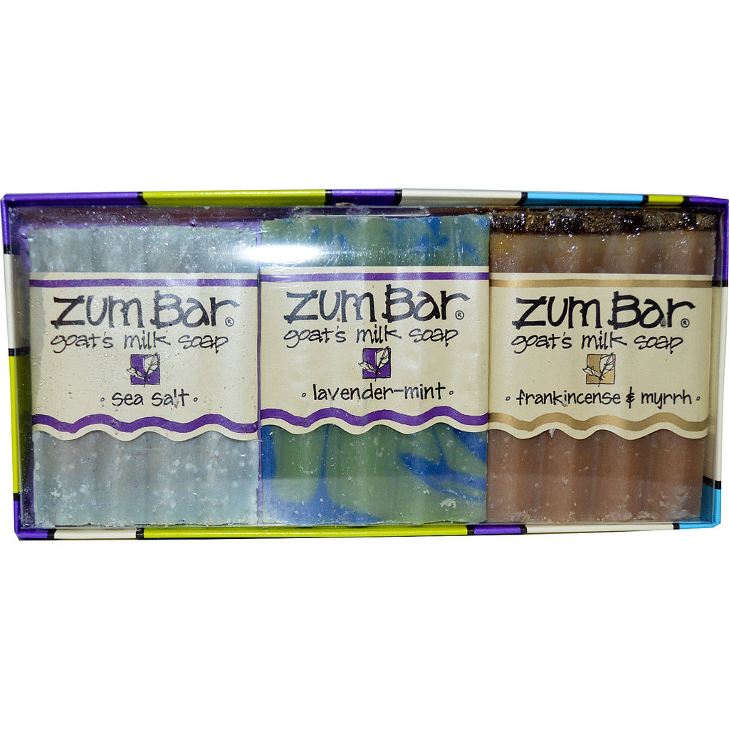 Indigo Wild, Zum Bar, Goat's Milk Soaps Gift Pack, 3 Bars, 3 oz Each