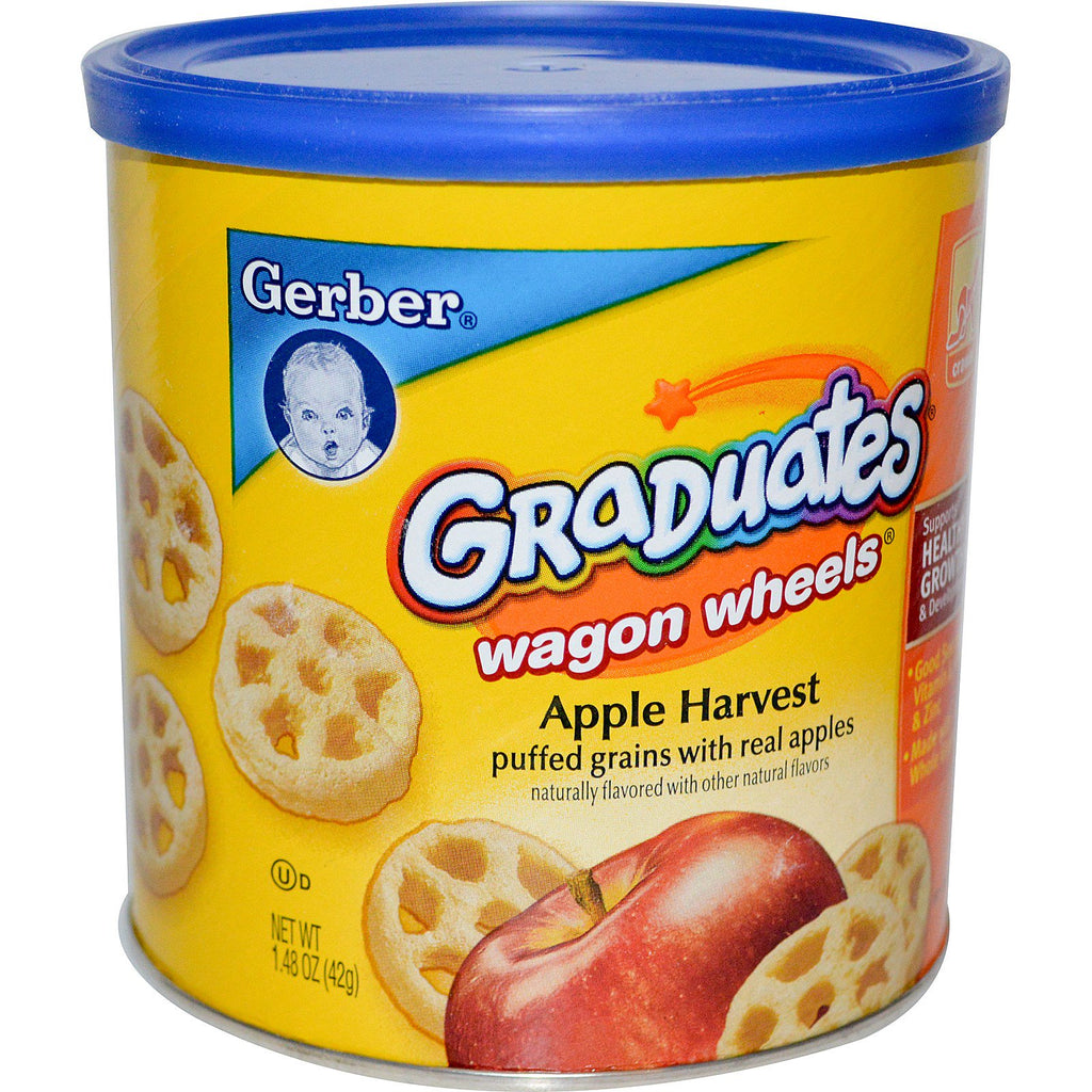 Gerber Graduates Finger Foods Apple Harvest Wagon Wheels 1.48 oz (42 g)