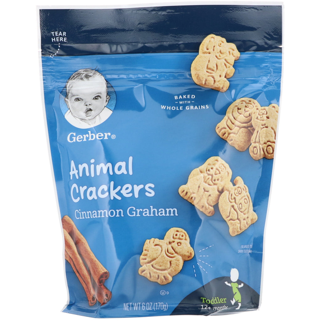 Gerber Graduates Cinnamon Graham Animal Crackers Toddler 6 oz (170 g)