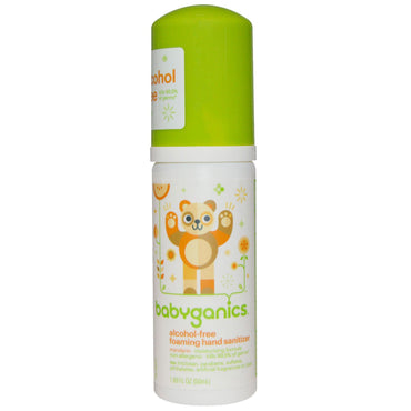 BabyGanics The Germinator Foaming Hand Sanitizer Alcohol-Free Tangerine 1.69 oz (50 ml)