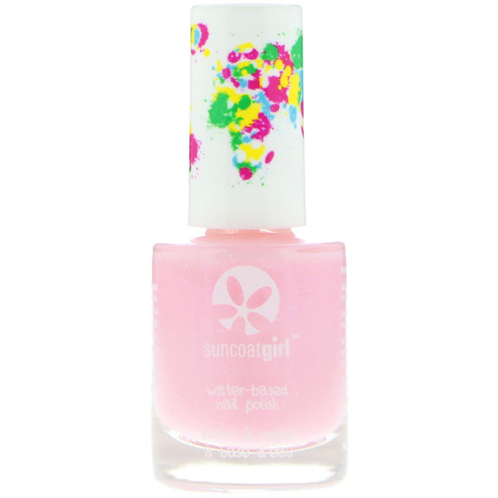 Suncoat Girl Water-Based Nail Polish Fairy Glitter 0.3 oz (9 ml)